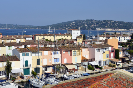 aerial view of port grimaud in