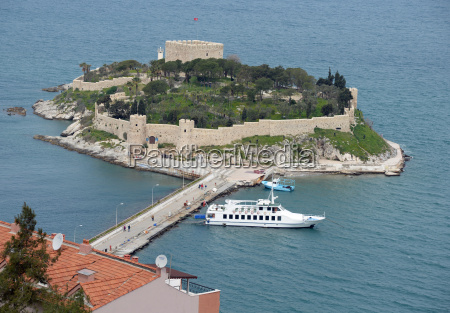 pigeon island near kusadasi turkey