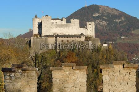 salzburg fortress hohensalzburg in austria and