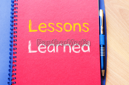 lessons learned auf notebook schreib