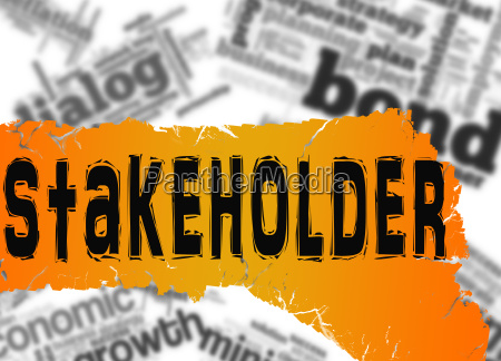 word cloud with stakeholder word on