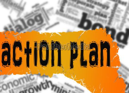 word cloud with action plan word