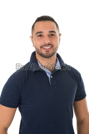 portrait of happy young man in