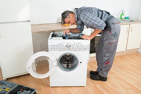 reparatur waschen reparieren pruefen erproben test