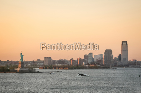 jersey city coast at sunset
