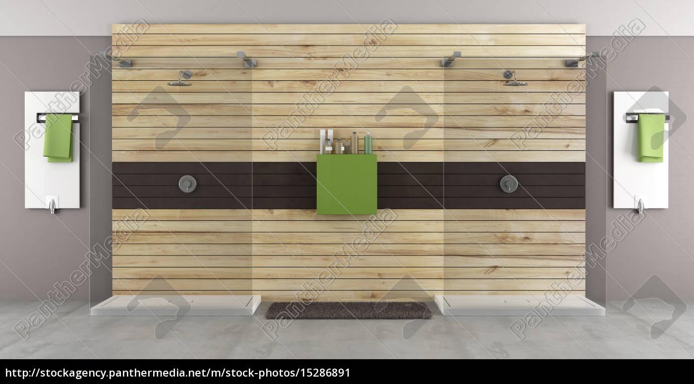 Lizenzfreies Bild 15286891 - modernes bad mit doppel dusche