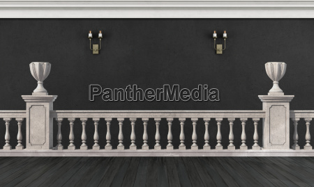 black and white room in classic