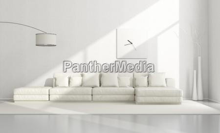 weiss minimalistische wohnzimmer