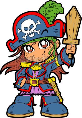 nettes maedchen piraten