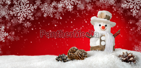 modern background with cheerful snowman