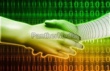digitaler handschlag