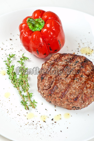 beef steak at plate