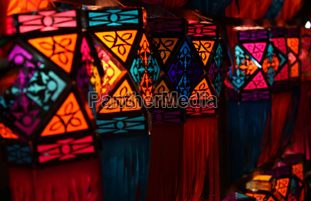 colorful diwali lanterns