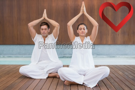 composite image of attractive couple in