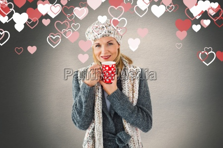composite image of smiling woman in