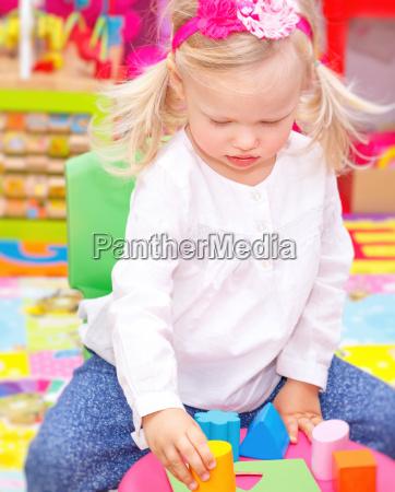 baby girl in daycare