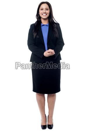 confident smiling business woman