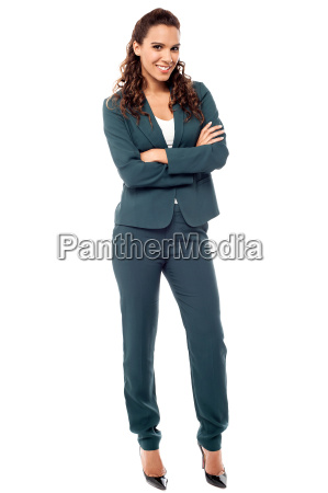 full length portrait of young business