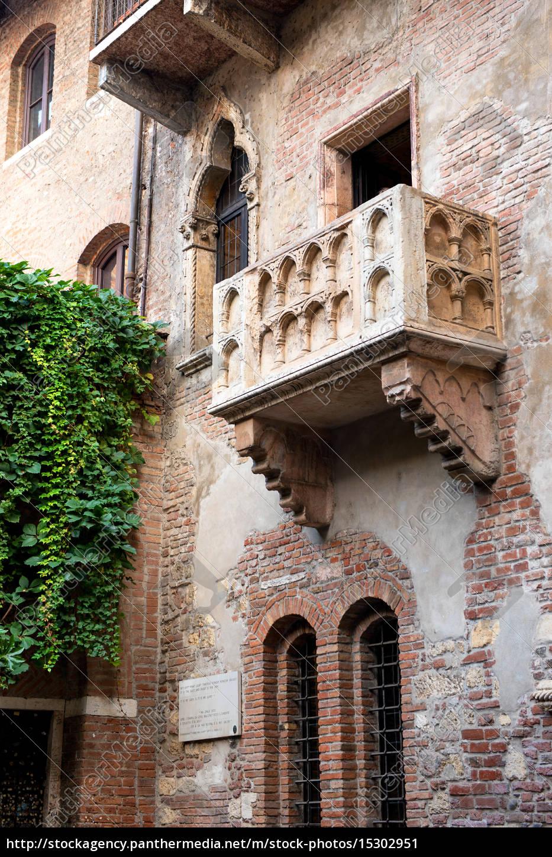 Balkon Von Julia In Verona Romeo Julia Lizenzfreies Bild