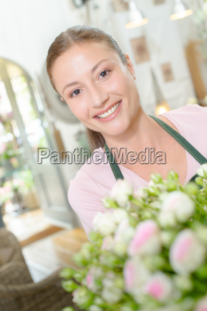 florist at her work