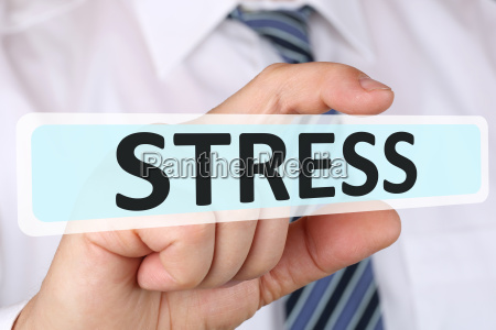business man konzept mit stress im
