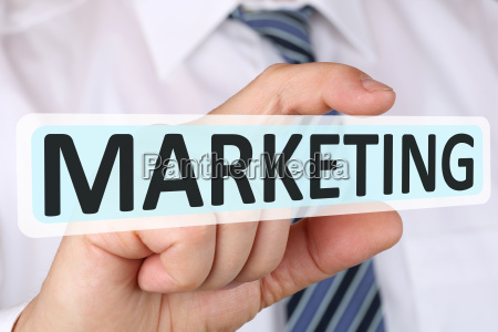 business man concept with marketing advertising
