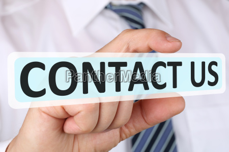 business man concept contact contact us