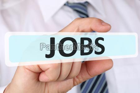business man konzept mit jobs job