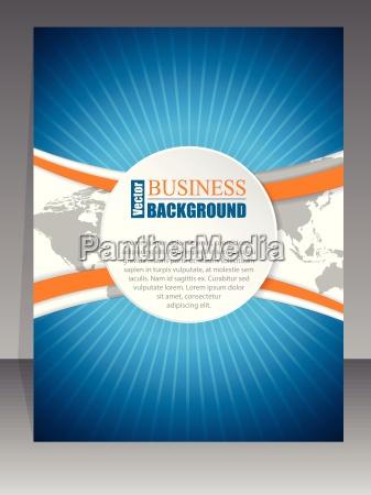 bursting brochure with orange wave and