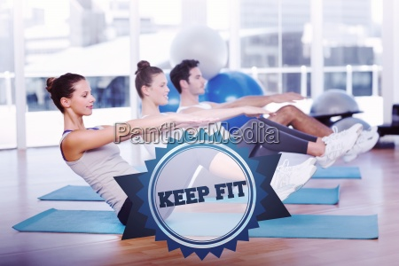 the word keep fit and class