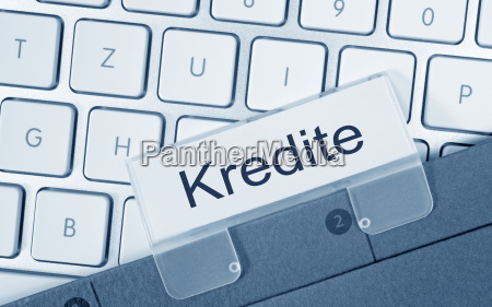 loans folder on computer keyboard
