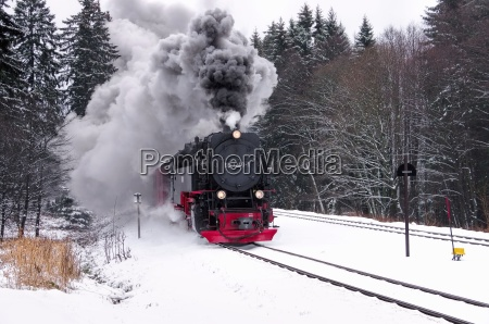 brockenbahn winter brocken railway in