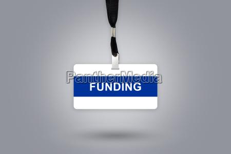 finanzierung auf plakette