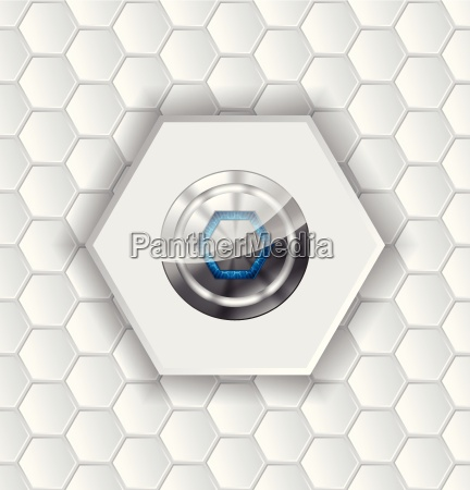 abstract background with hexagons and shiny