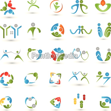 people logos collection people