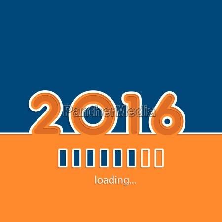 new year 2016 loading background