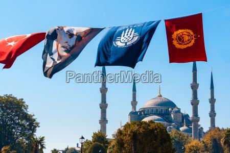 fahne tuerkei baustil architektur baukunst flagge