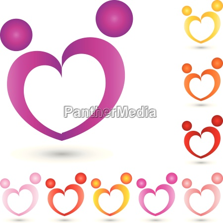 two people logocoupleheart