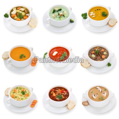 collage soup soups tomato soup vegetable