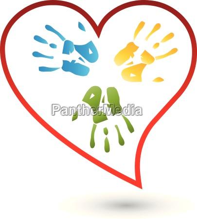 hands and heart logo kids