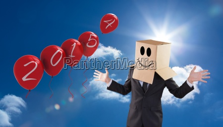 composite image of anonymous businessman with