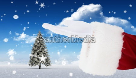 composite image of santa claus with