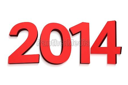 2014 in roten buchstaben