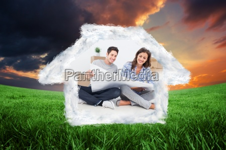 composite image of man and woman
