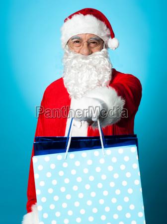 presents by santa on christmas