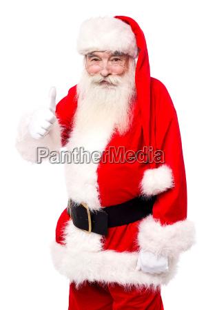 man in santa costume giving best