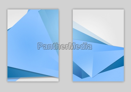 abstract blue minimal tech flyer design