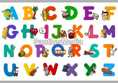 educational cartoon alphabet for kids
