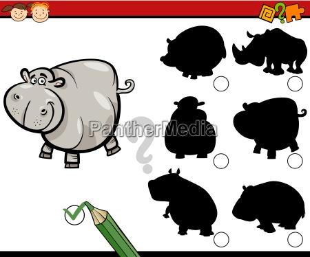 education shadows task cartoon