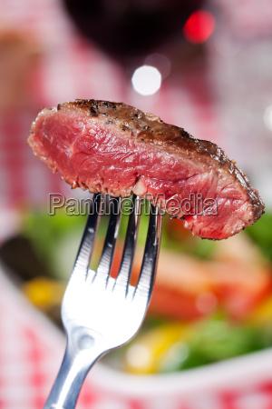 slice of a steak on a